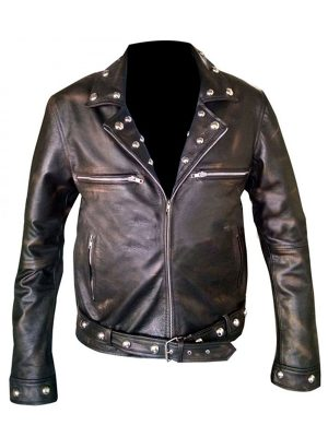 flashy men black leather jacket, flashy men brando leather jacket,