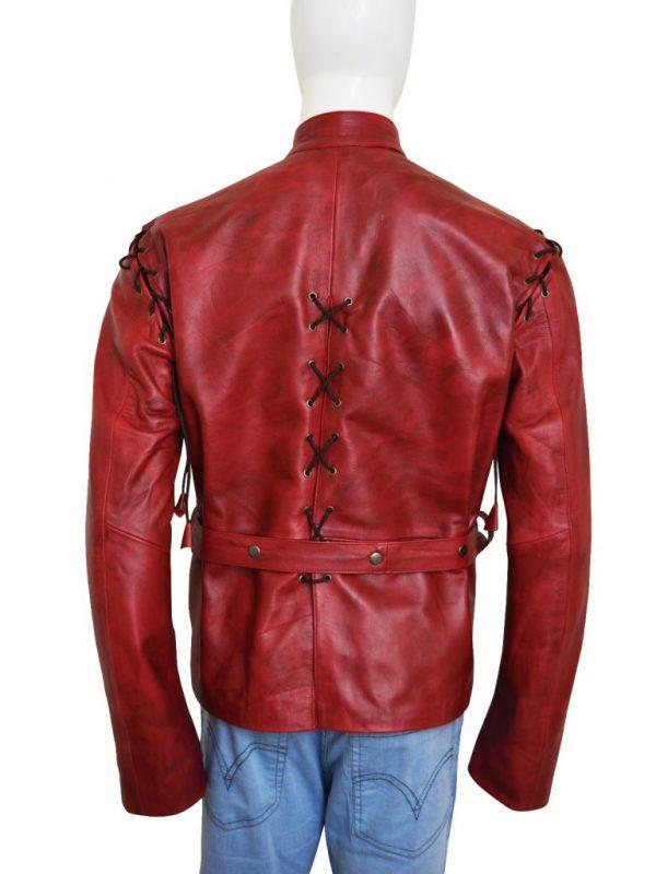 jaime lannister red costume, jaime lannister leather jacket,