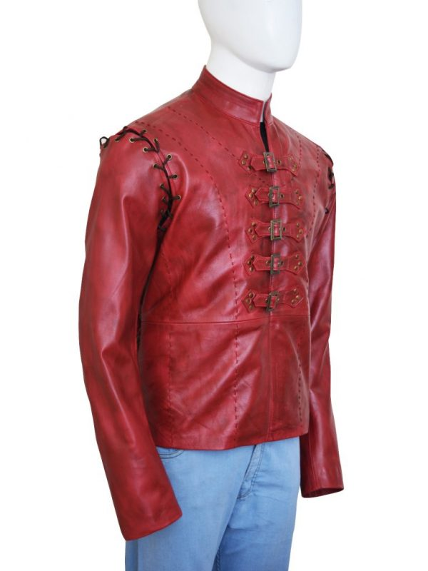 red jaime lannister leather jacket, red game of thrones leather jacket,