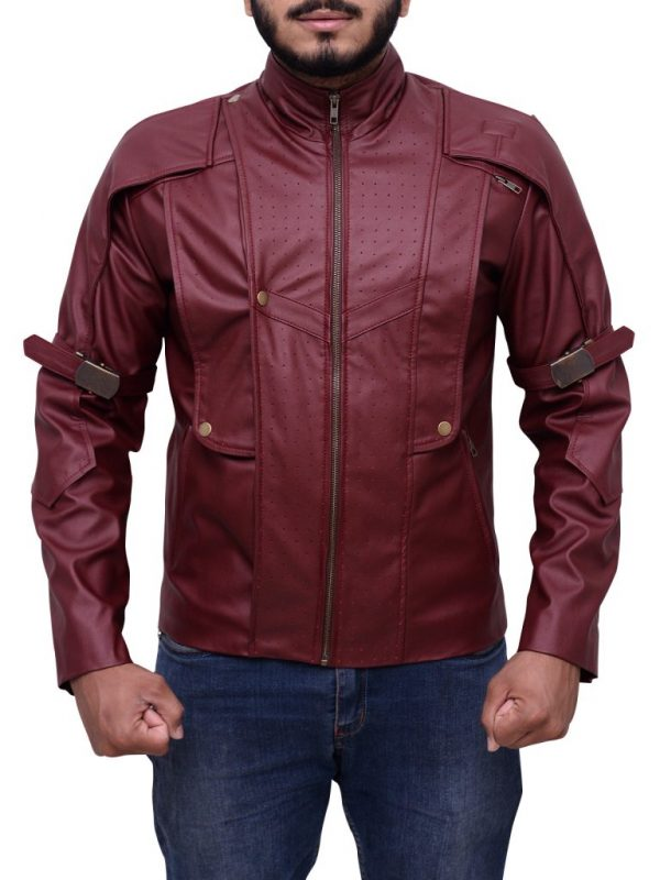 guardians of the galaxy leather jacket, men guardians of the galaxy leather jacket,