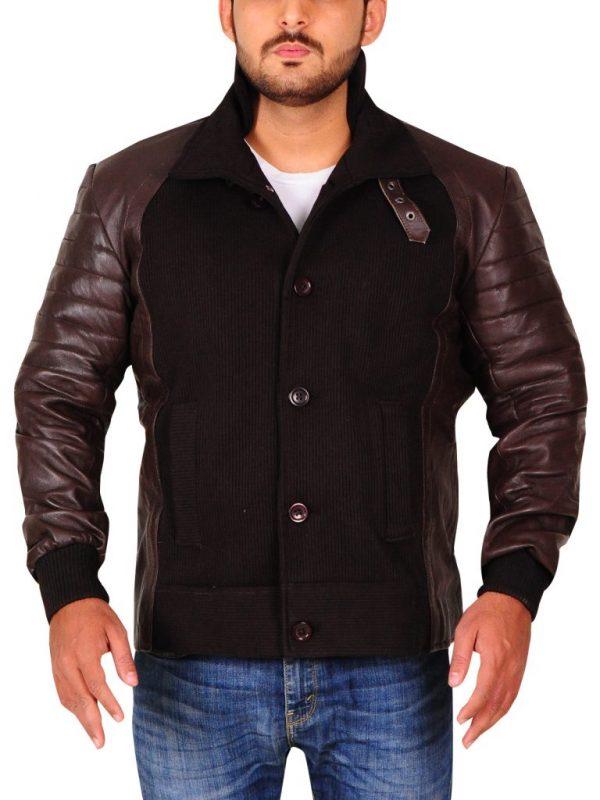 brown bomber leather jacket, men brown bomber leather jacket,