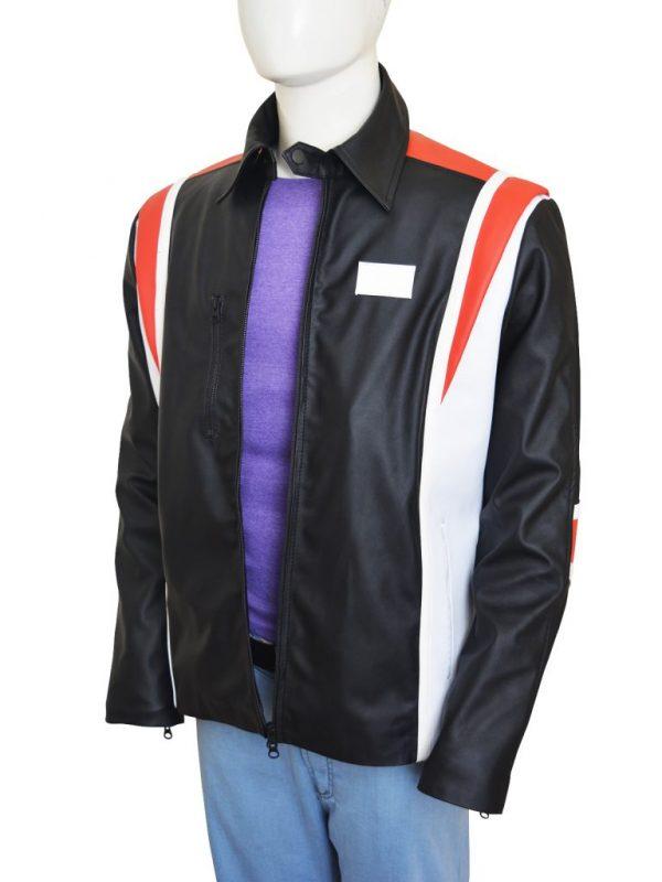 hugh jackman leather jacket, actor wolverine leather jacket,