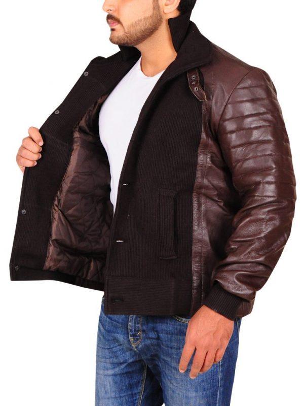 men brown leather jacket, men's brown leather jacket,
