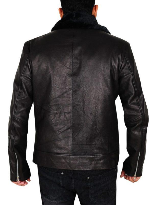 men black biker leather jacket, men moto biker leather jacket,