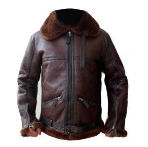 men aviator b3 bomber leather jacket, men sheepskin b3 bomber leather jacket,