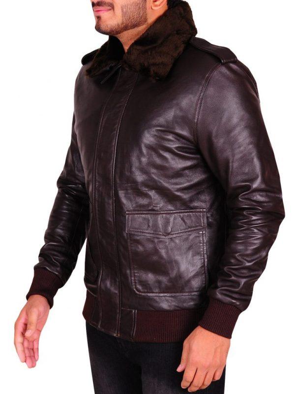 stylish men brown leather jacket, brown leather jacket for men,