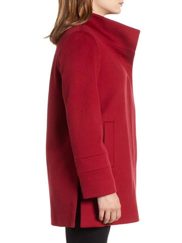 women red simple coat
