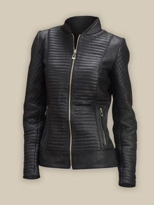 trending black biker jacket for women