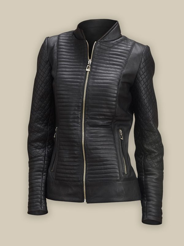 trending black biker jacket for women