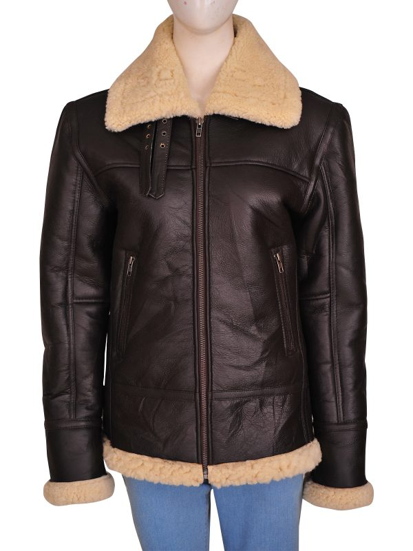 b3 bomber sheepskin jacket, b3 bomber shearling jacket,