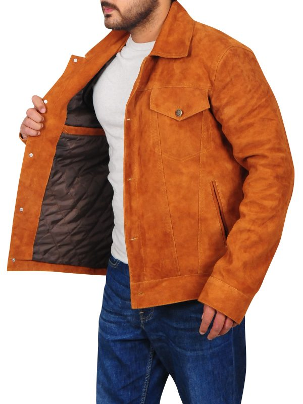 slim fit men leather jacket, body fitted men leather jacket,