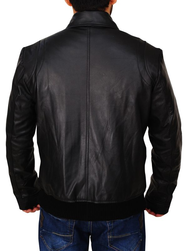 classic black leather jacket, classic leather jacket for men,
