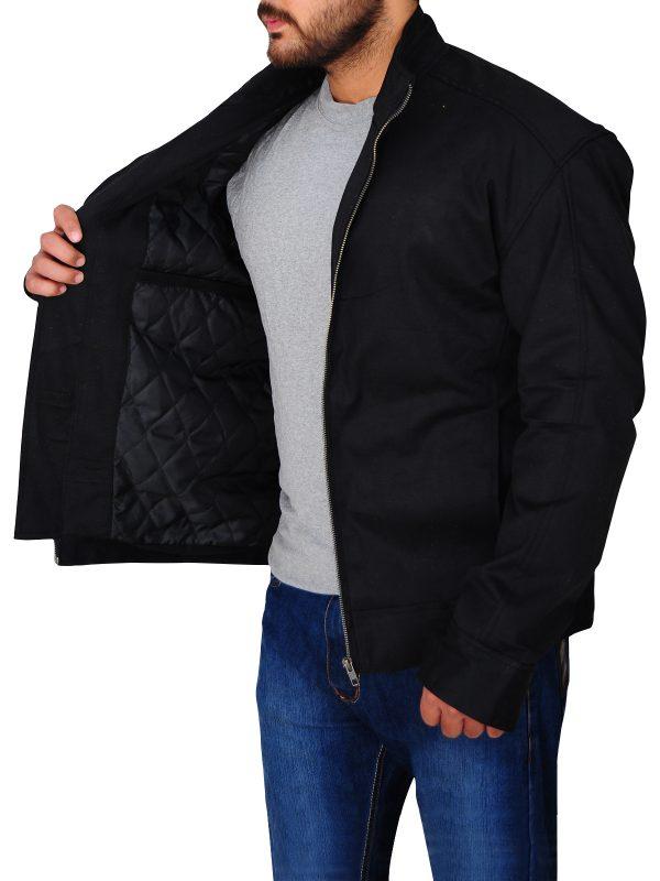 cotton jacket for men, black cotton jacket for men,
