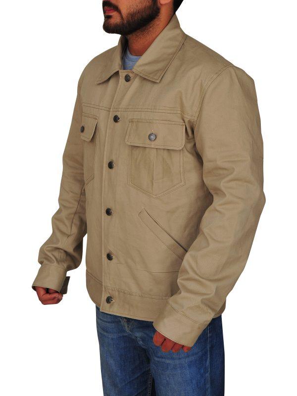 bradley cooper cotton jacket, bradley cooper brown cotton jacket,