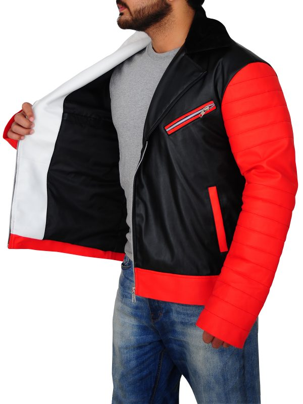men attractive leather jacket, men cosplay leather jacket,