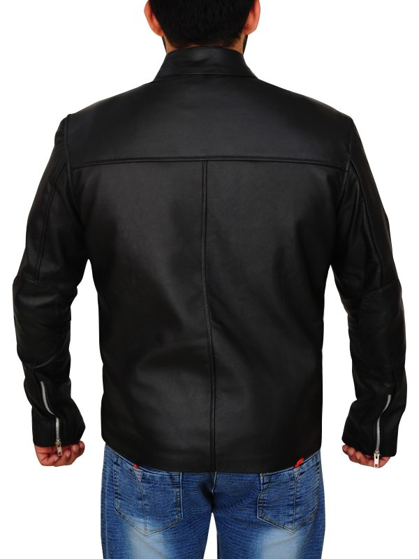 mauvetree black leather jacket, black leather jacket for men,
