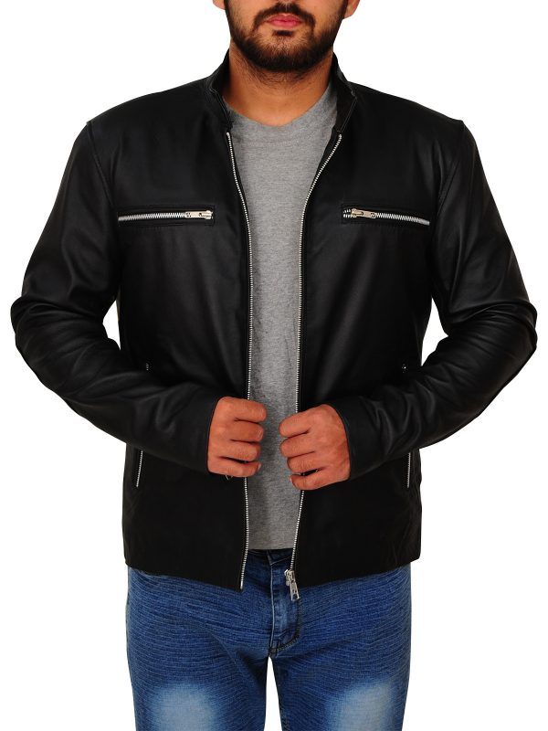 jet black leather jacket, black leather jacket for guys,