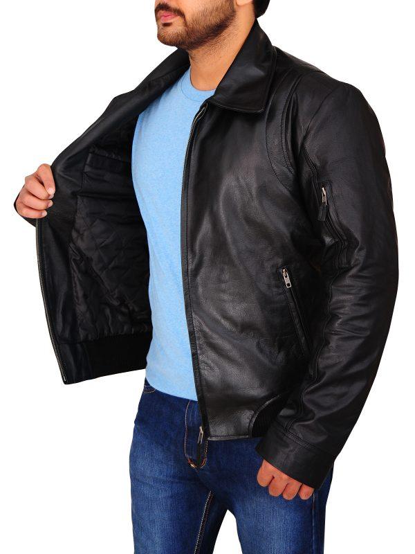 black leather jacket for men, attractive black leather jacket,