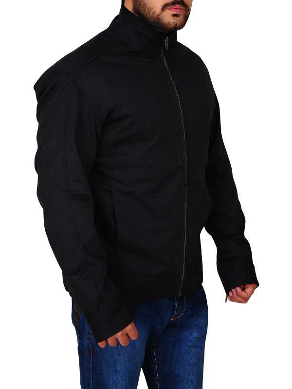 cotton jacket for guys, men black cotton jacket,