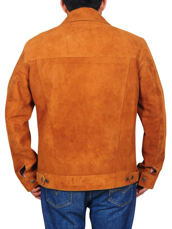 suede leather jacket for men, brown suede leather jacket for men,