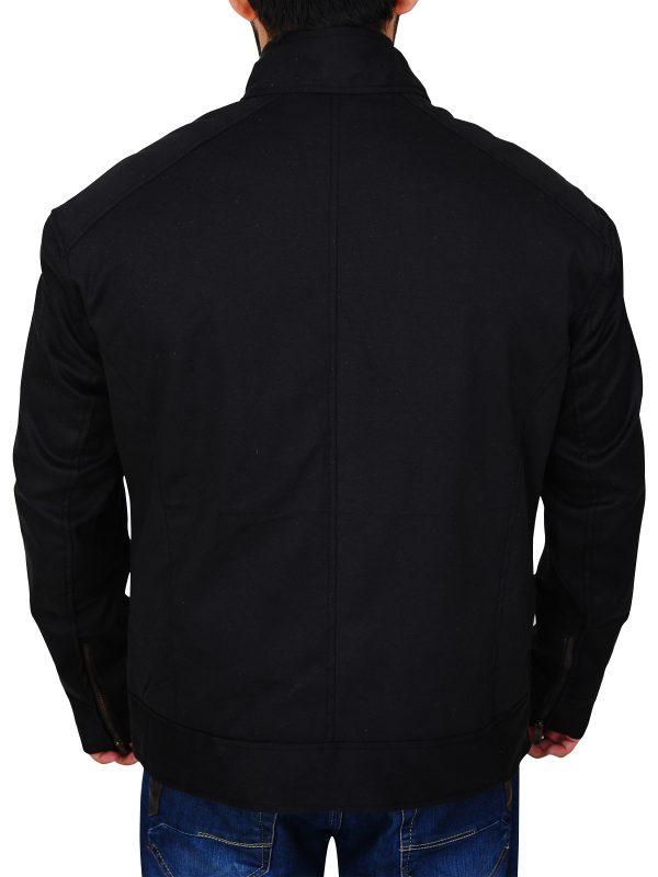trending black cotton jacket, stylish black cotton jacket for men,
