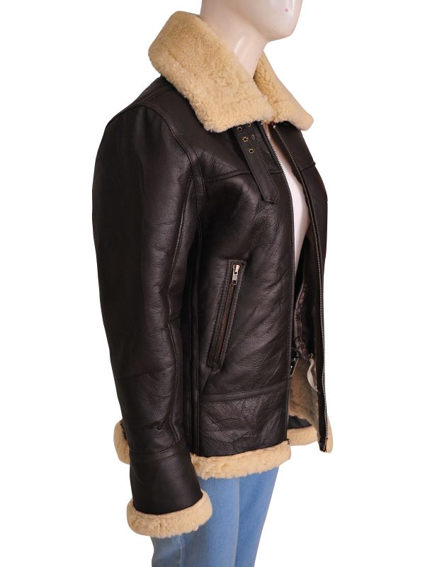 women b3 bomber sheepskin aviator jacket, sheepskin aviator b3 bomber jacket for women,