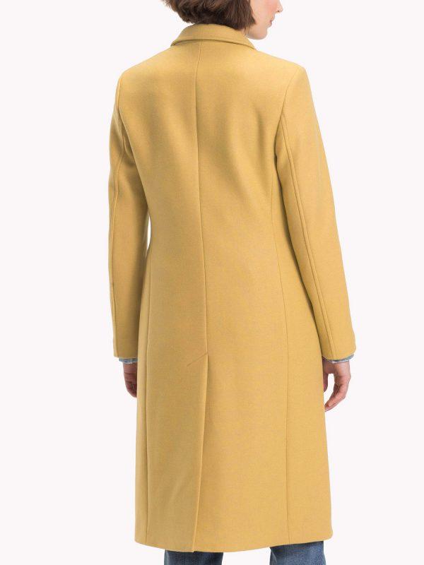 women brown long coat