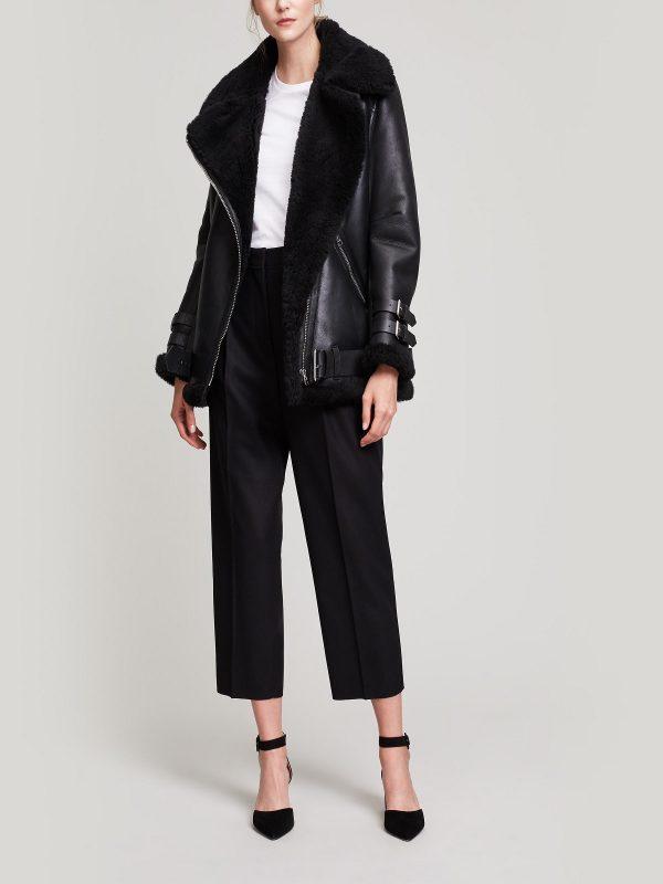 women black aviator jacket