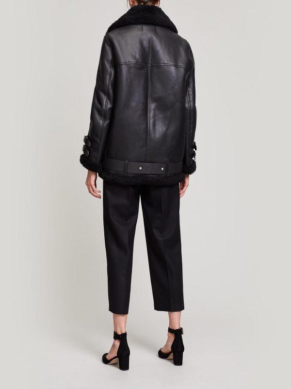 women shearling leather jacket