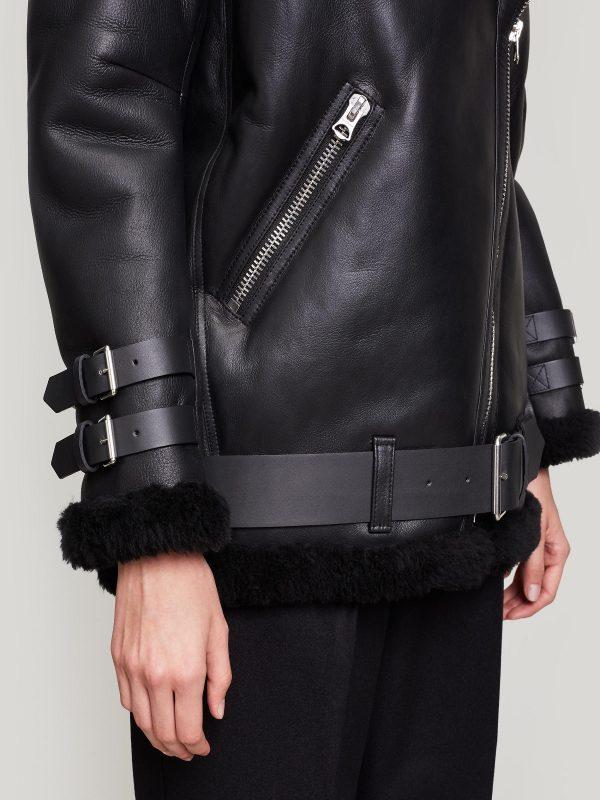 women black b3 bomber leather jacket
