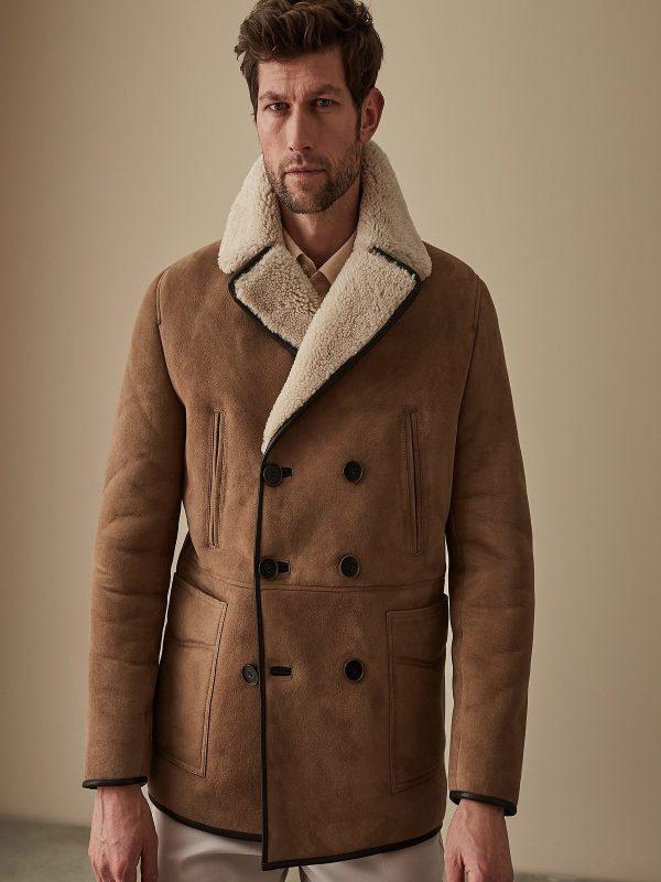 men brown b3 bomber jacket