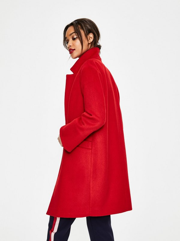 women red trench