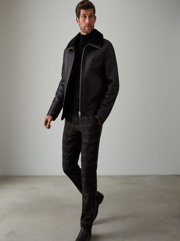 men black fur jacket