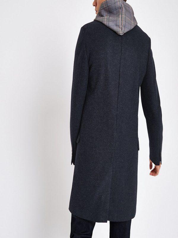 men navy blue coat