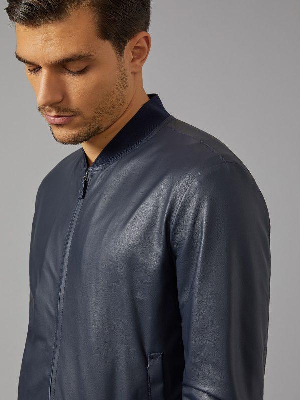 men leather varsity leather jacket