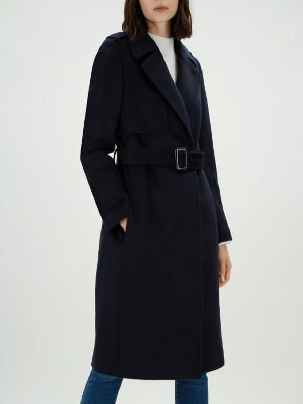 women blue coat