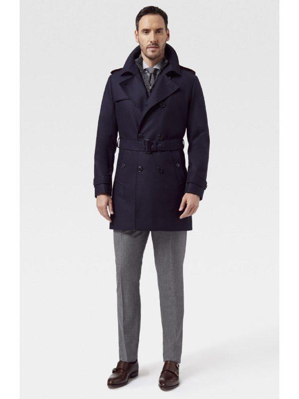 men blue coat