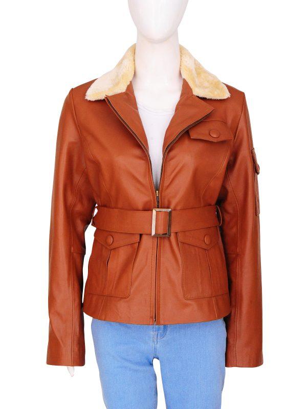 trending tan leather jacket