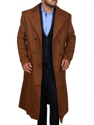 men double breasted trench