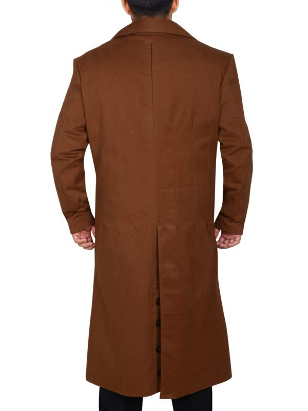 men double breasted overcoat