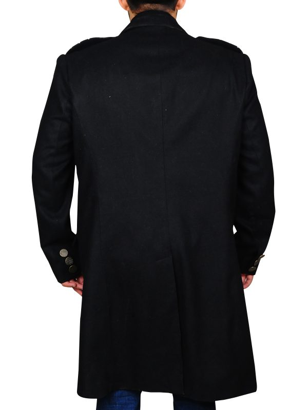 men double breasted wool coat
