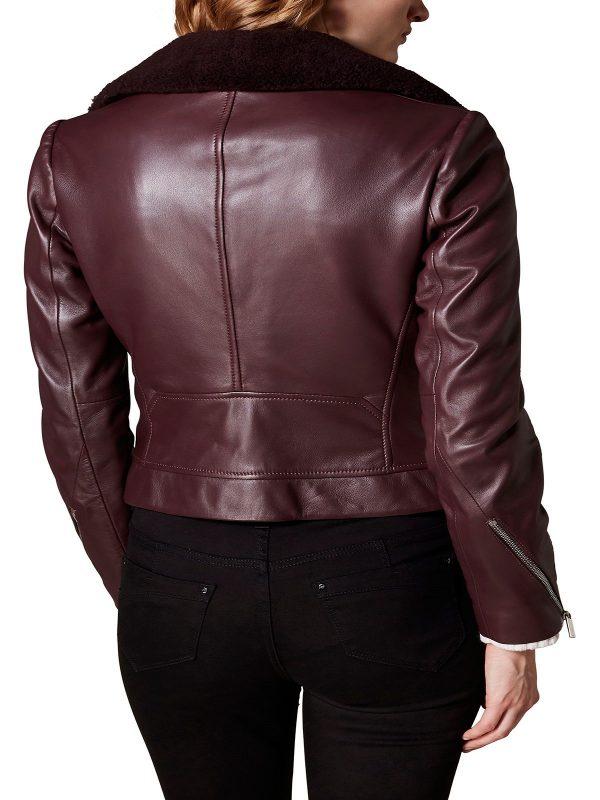 women brown rider jacket