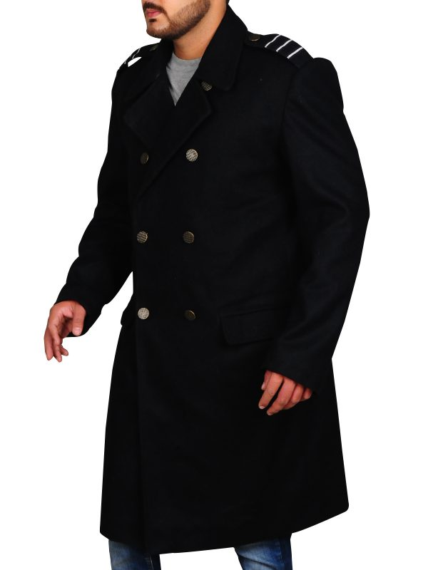 captain jack black long coat