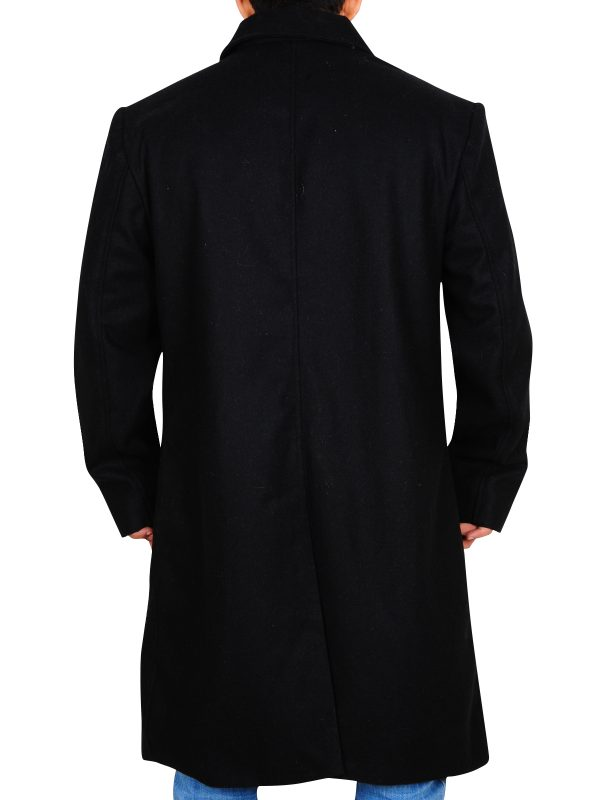 men black wool overcoat