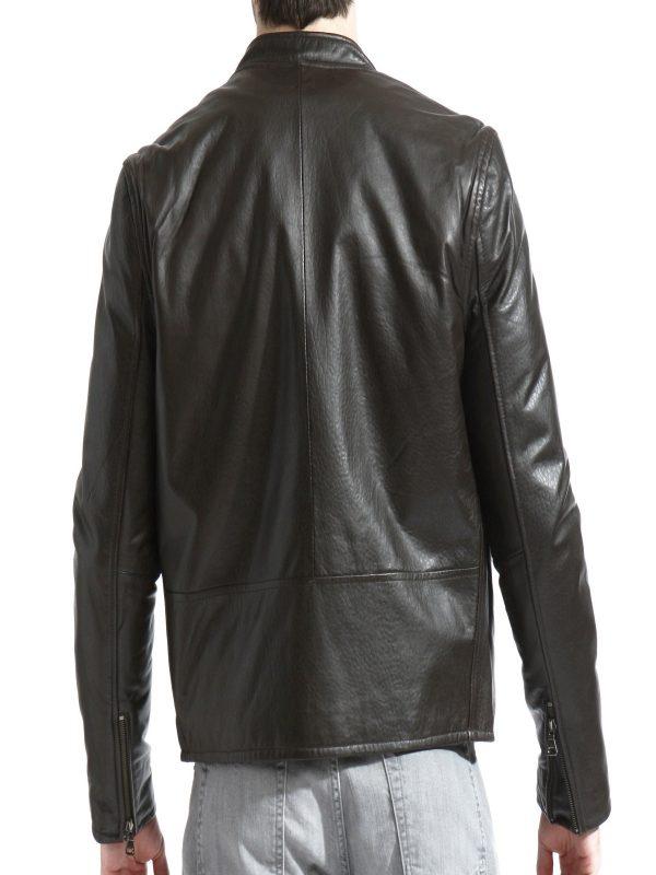 simple men brown jacket