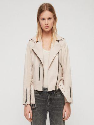 women stylish white jacket