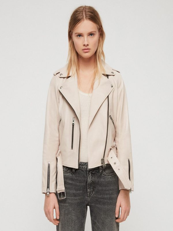 women stylish white jacket