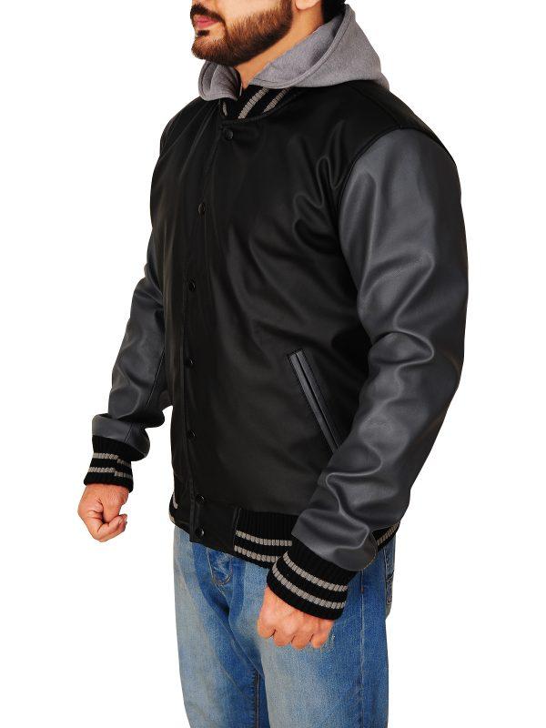 black and grey hoodie jacket, black hoodie jacket,