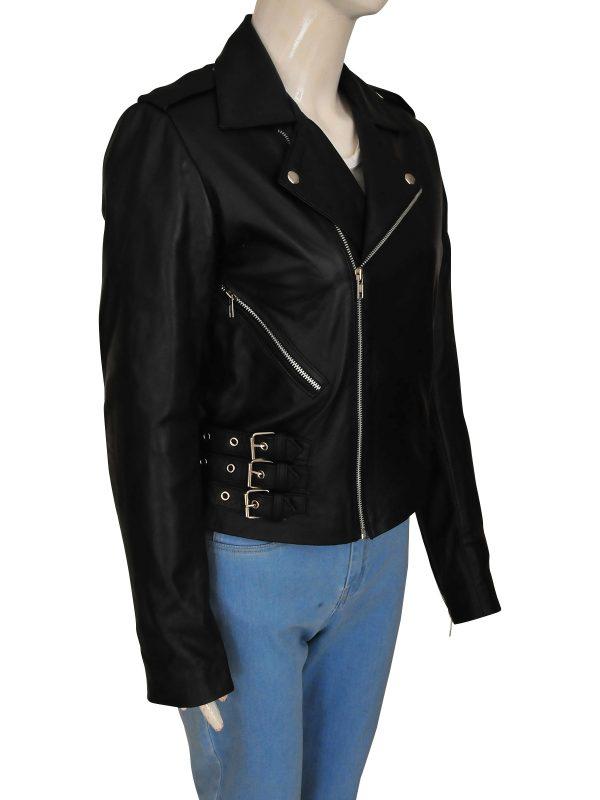 women black biker jacket, black biker leather jacket,