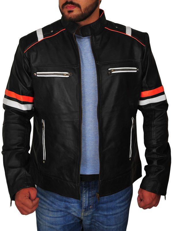 real cafe racer leather jacket, real leather biker jacket,